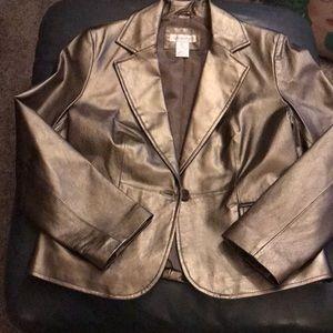 ♥️Worthington Gold Leather Jacket Sz Large